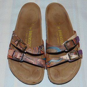 Birkenstock Art Leather Sandals size 5/5.5 & 36EU
